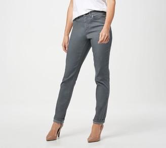 Denim & Co. Colored Straight Leg 5-Pocket Denim Jeans