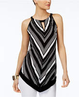 INC International Concepts Petite Chevron Halter Top, Only at Macy's