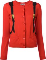 Moschino trompe l'oeil backpack cardigan - women - Cotton - 40