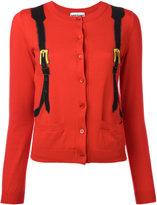 Moschino trompe l'oeil backpack cardigan - women - Cotton - 42