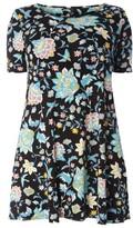 Evans Plus Size Women's Tropical Bird Print Swing Top
