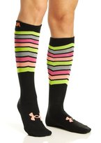 Under Armour Women's UA Mountain Ridge Lite Over the Calf Socks, Black/Cyber Orange, Medium