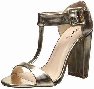 Qupid Women's Single Sole Sandal Heeled