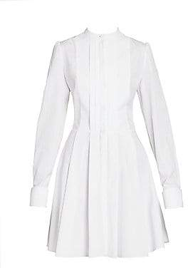 Alexander McQueen Women's Pleated Poplin Shirtdress