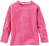 Osh Kosh Toddler Girl Ribbed Lace Neckline Top