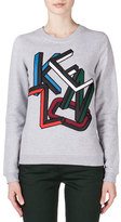 Kenzo Embroidered Sweatshirt, Pale Gray
