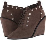 See by Chloe Suede Lace Up Wedge Bootie with Studs Women's Boots