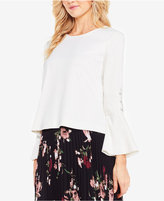 Vince Camuto Flutter-Cuff Button-Sleeve Top