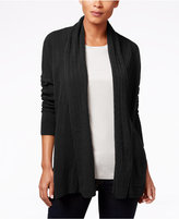 Karen Scott Luxsoft Cable-Knit Pocket Cardigan, Only at Macy's
