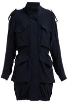 Norma Kamali Cargo Pocket Stretch-jersey Dress - Womens - Navy