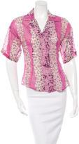 Dolce & Gabbana Short Sleeve Floral Print Top