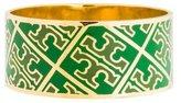 Tory Burch Enamel T Pattern Bangle Bracelet