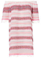 Lemlem Off Shoulder Scarlet Striped Dress