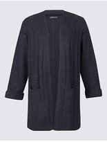 M&S Collection PLUS Longline 2 Pocket Cardigan