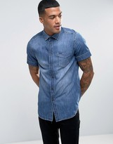 Diesel D-KENDALE Short Sleeve Denim Shirt Regular Fit