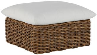 Montecito Outdoor Ottoman - Raffia - SUMMER CLASSICS INC - frame, raffia; upholstery, white