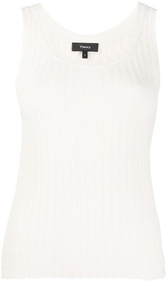 Theory Ribbed Knitted Vest Top