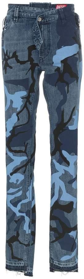 Diesel Red Tag camo print jeans