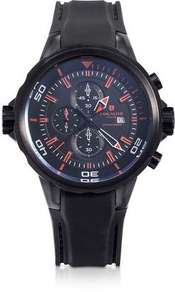 Lancaster Space Shuttle Black Stainless Steel Chronograph Watch