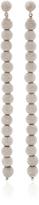 Carolina Bucci White Florentine Beaded Column Earrings