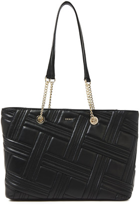 DKNY Allen Medium Quilted Leather Tote