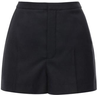Saint Laurent Wool Gabardine Shorts