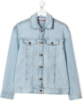 Zadig & Voltaire Kids TEEN Alex denim jacket