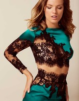 Agent Provocateur Nayeli Top Green And Black