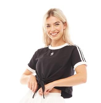 adidas Womens Cut-Knot T-Shirt Black