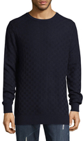 Karl Lagerfeld Men's Basket Weave Sweater