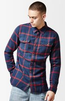 Vans Wayland II Plaid Flannel Long Sleeve Button Up Shirt