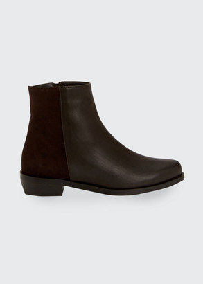 Aquatalia Gabrielle Mixed Leather Ankle Booties