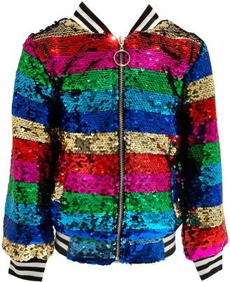 Lola & the Boys Chasing Rainbow Sequin Jacket