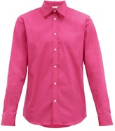 Alexander McQueen Double-collar And Cuff Cotton-blend Shirt - Mens - Pink
