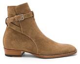 Saint Laurent Suede Wyatt Jodhpur Boots