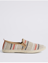 M&S Collection Canvas Striped Espadrille Slip-on Shoes