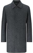 Jigsaw Italian Jersey Raw Cut Coat, Charcoal