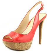 Jessica Simpson Tacey Women Open Toe Patent Leather Pink Platform Sandal.