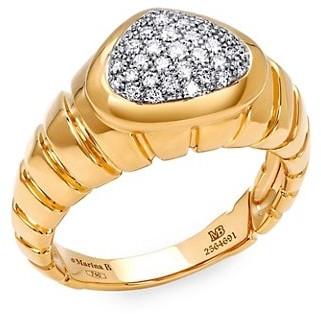 MARINA B Timo 18K Yellow Gold & Diamond Pave Ring