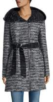 Catherine Malandrino Belted Tweed Coat
