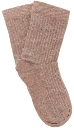 Swedish Stockings - Stella Lurex Socks - Light Pink