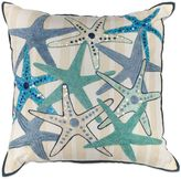 Kas Sequin Square Throw Pillow in Ivory