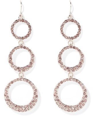 Ever New Amelia Diamante Disc Drop Earrings