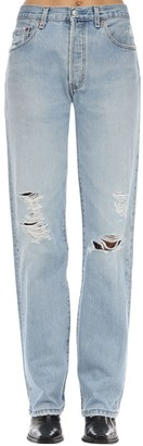 RE/DONE Distressed High Rise Cotton Denim Jeans