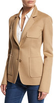 Michael Kors Single-Breasted Long Sleeve Blazer, Fawn