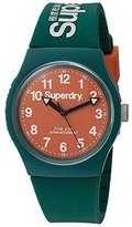 Superdry 'Urban' Quartz Plastic and Silicone Dress Watch, Color:Green (Model: SYG164ON)
