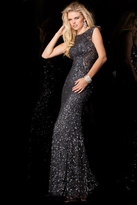 Scala 48467 Evening Dress In Charcoal