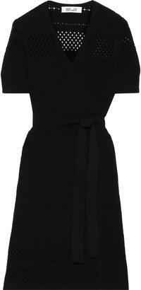 Diane von Furstenberg Pointelle-knit Wrap Dress