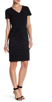 Donna Ricco V-Neck Shift Dress