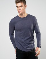 Asos Cotton Sweater with Curved Hem